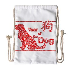 Year Of The Dog   Chinese New Year Drawstring Bag (large) by Valentinaart