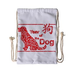 Year Of The Dog   Chinese New Year Drawstring Bag (small) by Valentinaart