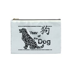 Year Of The Dog   Chinese New Year Cosmetic Bag (medium)  by Valentinaart