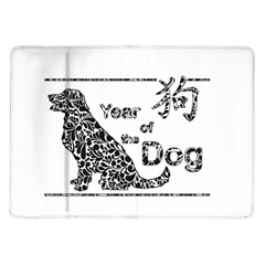 Year Of The Dog   Chinese New Year Samsung Galaxy Tab 10 1  P7500 Flip Case by Valentinaart