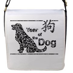 Year Of The Dog   Chinese New Year Flap Messenger Bag (s) by Valentinaart