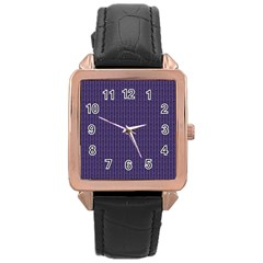 Color Of The Year 2018   Ultraviolet   Art Deco Black Edition Rose Gold Leather Watch  by tarastyle