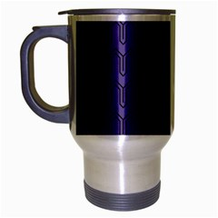 Color Of The Year 2018   Ultraviolet   Art Deco Black Edition Travel Mug (silver Gray) by tarastyle