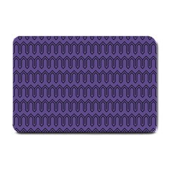 Color Of The Year 2018   Ultraviolet   Art Deco Black Edition Small Doormat  by tarastyle