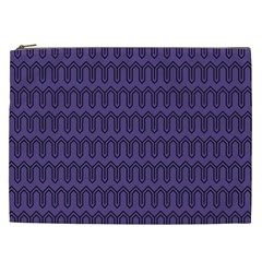 Color Of The Year 2018   Ultraviolet   Art Deco Black Edition Cosmetic Bag (xxl)