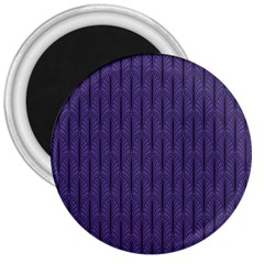 Color Of The Year 2018   Ultraviolet   Art Deco Black Edition 3  Magnets