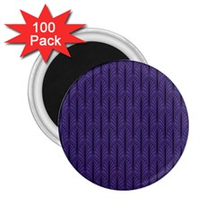 Color Of The Year 2018   Ultraviolet   Art Deco Black Edition 2 25  Magnets (100 Pack)  by tarastyle