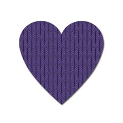 Color Of The Year 2018   Ultraviolet   Art Deco Black Edition Heart Magnet