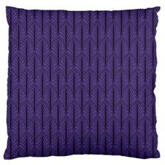Color Of The Year 2018   Ultraviolet   Art Deco Black Edition Large Flano Cushion Case (one Side) by tarastyle