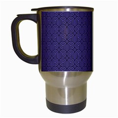 Color Of The Year 2018   Ultraviolet   Art Deco Black Edition Travel Mugs (white) by tarastyle