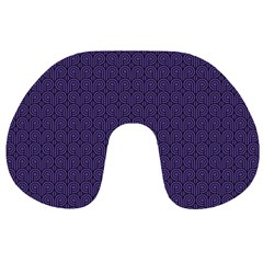 Color Of The Year 2018   Ultraviolet   Art Deco Black Edition Travel Neck Pillows by tarastyle