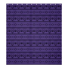 Color Of The Year 2018   Ultraviolet   Art Deco Black Edition Shower Curtain 66  X 72  (large)  by tarastyle
