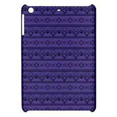 Color Of The Year 2018   Ultraviolet   Art Deco Black Edition Apple Ipad Mini Hardshell Case by tarastyle