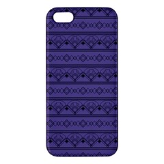 Color Of The Year 2018   Ultraviolet   Art Deco Black Edition Apple Iphone 5 Premium Hardshell Case by tarastyle