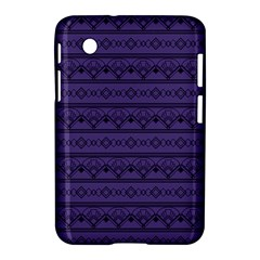 Color Of The Year 2018   Ultraviolet   Art Deco Black Edition Samsung Galaxy Tab 2 (7 ) P3100 Hardshell Case  by tarastyle