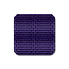 Color Of The Year 2018   Ultraviolet   Art Deco Black Edition Rubber Square Coaster (4 Pack)  by tarastyle