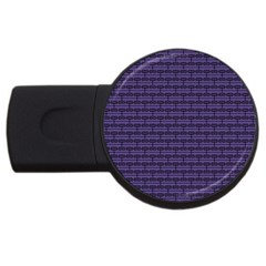 Color Of The Year 2018   Ultraviolet   Art Deco Black Edition Usb Flash Drive Round (2 Gb) by tarastyle