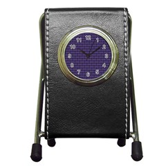 Color Of The Year 2018 - Ultraviolet - Art Deco Black Edition Pen Holder Desk Clocks by tarastyle