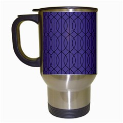 Color Of The Year 2018   Ultraviolet   Art Deco Black Edition 10 Travel Mugs (white) by tarastyle