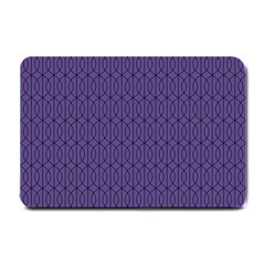 Color Of The Year 2018   Ultraviolet   Art Deco Black Edition 10 Small Doormat  by tarastyle