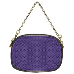 Color Of The Year 2018   Ultraviolet   Art Deco Black Edition 10 Chain Purses (one Side)  by tarastyle