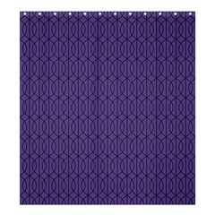 Color Of The Year 2018   Ultraviolet   Art Deco Black Edition 10 Shower Curtain 66  X 72  (large)  by tarastyle