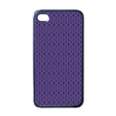 Color Of The Year 2018   Ultraviolet   Art Deco Black Edition 10 Apple Iphone 4 Case (black) by tarastyle
