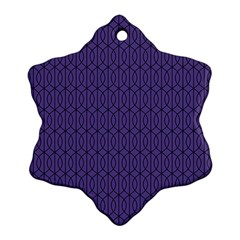 Color Of The Year 2018 - Ultraviolet - Art Deco Black Edition 10 Snowflake Ornament (two Sides) by tarastyle