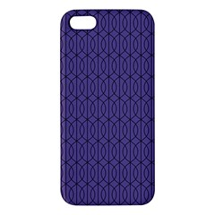 Color Of The Year 2018   Ultraviolet   Art Deco Black Edition 10 Apple Iphone 5 Premium Hardshell Case by tarastyle