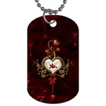 Wonderful Hearts With Dove Dog Tag (One Side) Front