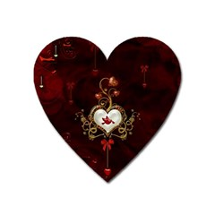 Wonderful Hearts With Dove Heart Magnet by FantasyWorld7