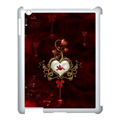 Wonderful Hearts With Dove Apple Ipad 3/4 Case (white) by FantasyWorld7