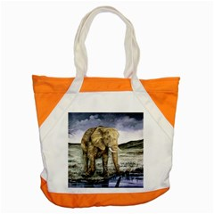Elephant Accent Tote Bag by ArtByThree
