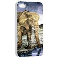 Elephant Apple Iphone 4/4s Seamless Case (white)