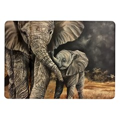 Elephant Mother And Baby Samsung Galaxy Tab 10 1  P7500 Flip Case by ArtByThree