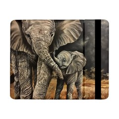 Elephant Mother And Baby Samsung Galaxy Tab Pro 8 4  Flip Case by ArtByThree