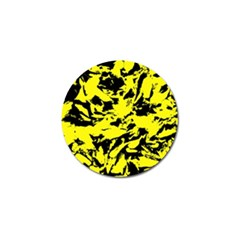 Yellow Black Abstract Military Camouflage Golf Ball Marker (4 Pack) by Costasonlineshop