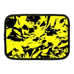 Yellow Black Abstract Military Camouflage Netbook Case (medium)  by Costasonlineshop