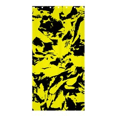 Yellow Black Abstract Military Camouflage Shower Curtain 36  X 72  (stall)  by Costasonlineshop