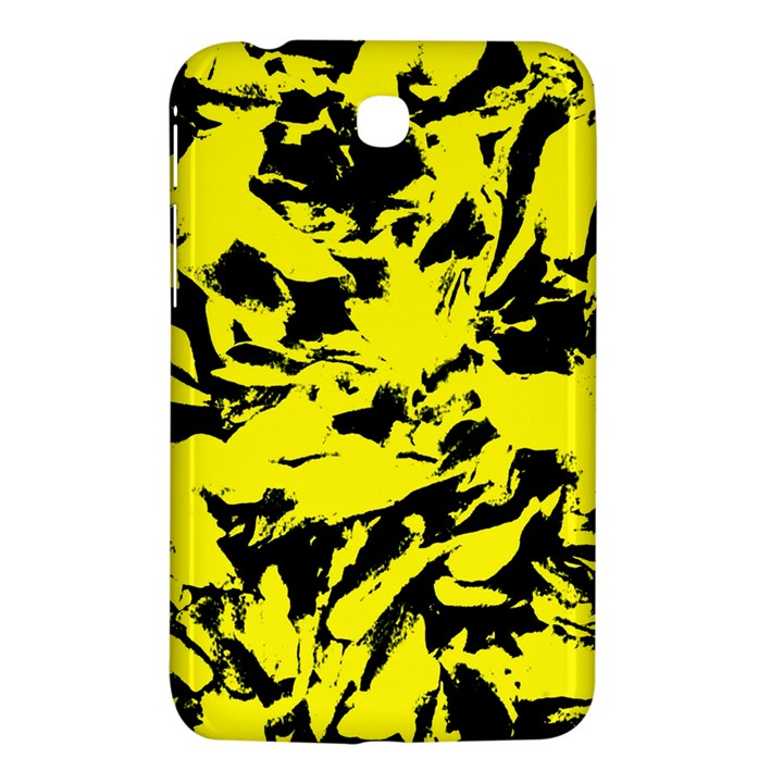 Yellow Black Abstract Military Camouflage Samsung Galaxy Tab 3 (7 ) P3200 Hardshell Case