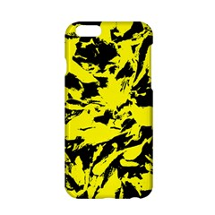 Yellow Black Abstract Military Camouflage Apple Iphone 6/6s Hardshell Case by Costasonlineshop