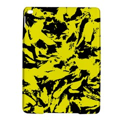 Yellow Black Abstract Military Camouflage Ipad Air 2 Hardshell Cases by Costasonlineshop