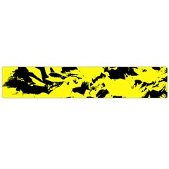Yellow Black Abstract Military Camouflage Large Flano Scarf  by Costasonlineshop