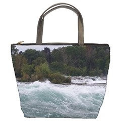 Sightseeing At Niagara Falls Bucket Bags by canvasngiftshop