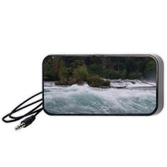 Sightseeing At Niagara Falls Portable Speaker by canvasngiftshop