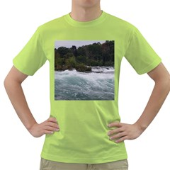 Sightseeing At Niagara Falls Green T Shirt by canvasngiftshop