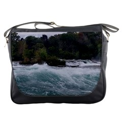 Sightseeing At Niagara Falls Messenger Bags by canvasngiftshop