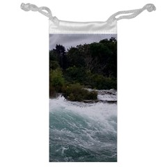 Sightseeing At Niagara Falls Jewelry Bag by canvasngiftshop
