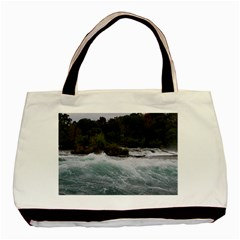 Sightseeing At Niagara Falls Basic Tote Bag by canvasngiftshop