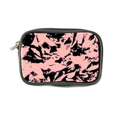 Old Rose Black Abstract Military Camouflage Coin Purse by Costasonlineshop
